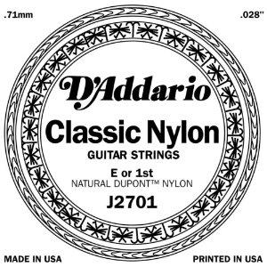D'ADDARIO J2701 – Pojedinačna E1 žica za klasičnu gitaru