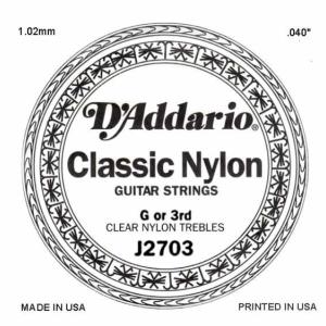 D'ADDARIO J2703 – Pojedinačna G žica za klasičnu gitaru