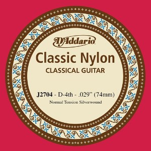 D'ADDARIO J2704 – Pojedinačna D žica za klasičnu gitaru