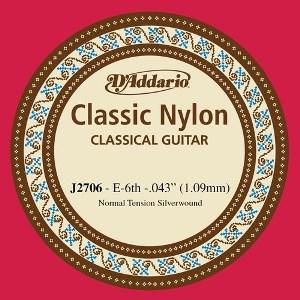 D'ADDARIO J2706 – Pojedinačna E žica za klasičnu gitaru