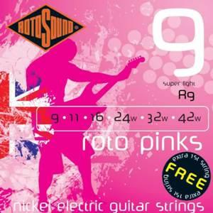 ROTOSOUND R9 ROTO PINKS – Set žica za električnu gitaru