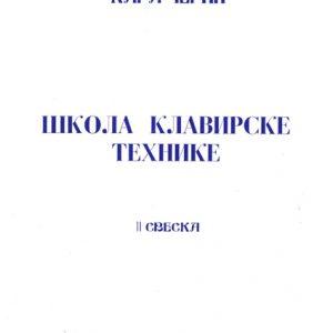 C. Czerny: ŠKOLA KLAVIRSKE TEHNIKE Op.299. sveska 3