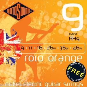 ROTOSOUND RH9 ROTO ORANGE – Set žica za električnu gitaru
