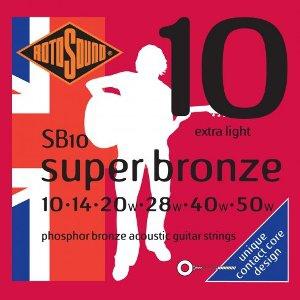 ROTOSOUND SB10 SUPER BRONZE – Set žica za akustičnu gitaru