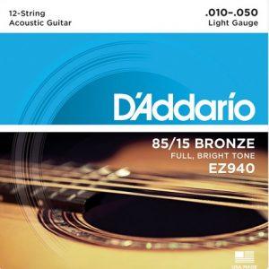 D'ADDARIO EZ940 – Set žica za 12-o žičanu akustičnu gitaru