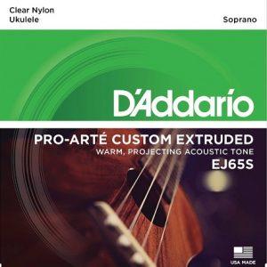 D'ADDARIO EJ65S – Set žica za sopran ukulele