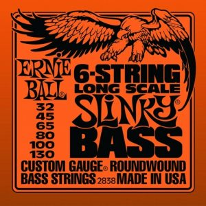 ERNIE BALL 2838 6-String LONG SCALE SLINKY – Žice za 6-žičanu bas gitaru