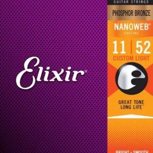 Elixir Strings 16027 Nanoweb – Set žica za akustičnu gitaru