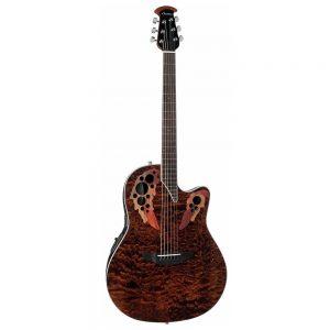 OVATION CE44P-TGE CELEBRITY ELITE EXOTIC MID-CUTAWAY – Ozvučena akustična gitara