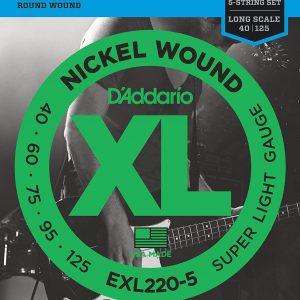 D'ADDARIO EXL220-5 – Set žica za bas gitaru