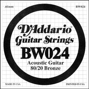 D'ADDARIO BW024 – Pojedinačna žica za akustičnu gitaru