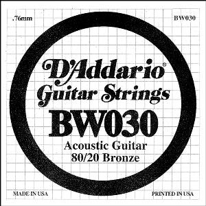 D'ADDARIO BW030 – Pojedinačna žica za akustičnu gitaru