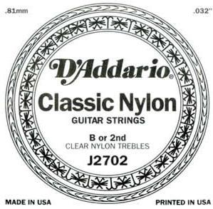 D'ADDARIO J2702 – Pojedinačna H žica za klasičnu gitaru
