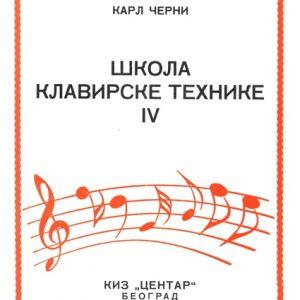 C. Czerny: ŠKOLA KLAVIRSKE TEHNIKE Op.299. sveska 4