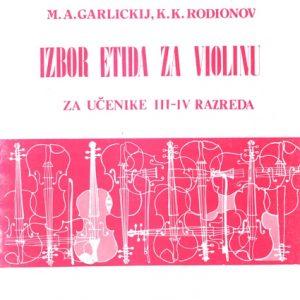K. A. Fortunatov / M. A. Garlickij / K. K. Rodionov: IZBOR ETIDA ZA VIOLINU 2