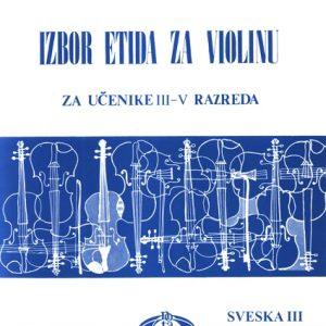 K. A. Fortunatov / M. A. Garlickij / K. K. Rodionov: IZBOR ETIDA ZA VIOLINU 3