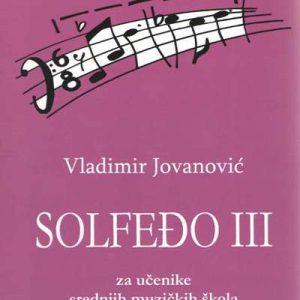 V. Jovanović: SOLFEĐO 3