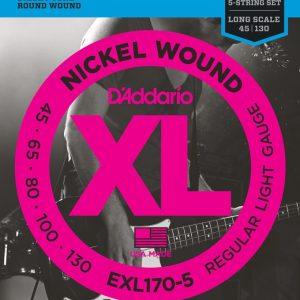 D'ADDARIO EXL170-5 – Set žica za bas gitaru